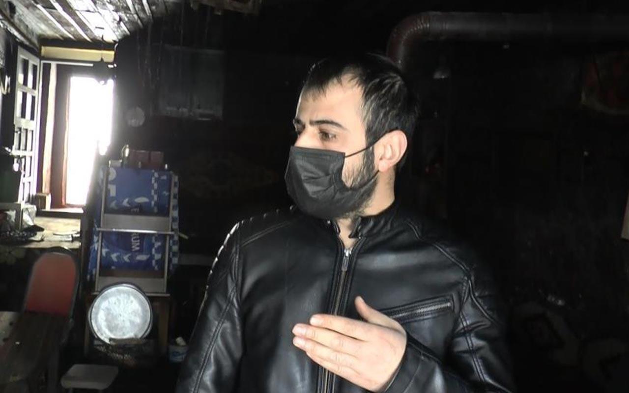 Erzurum'da iş yeri yanan adam gerçeği öğrenince ikinci kez yıkıldı