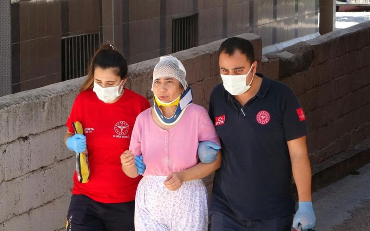 Antalya'da şoke eden olay! Kanepede nakış yapan kadının üzerine evin tavanı düştü