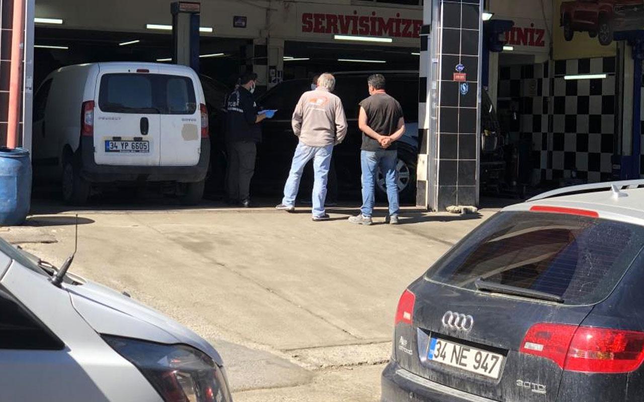 Maslak'ta oto tamirci dükkanına silahlı saldırı