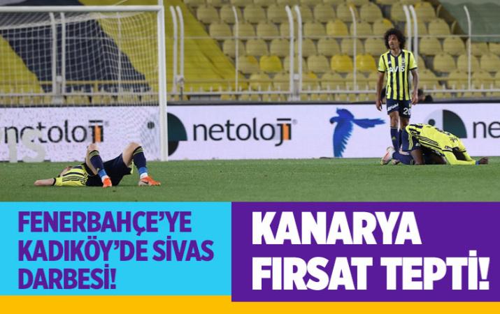 Fenerbahçe-Sivasspor Süper Lig maç sonucu: 1-2