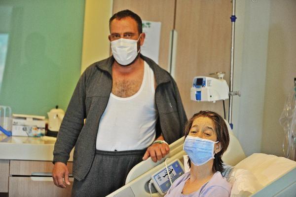 'Tatile gidiyoruz' diyerek hastaneye getirdiği eşine böbreğini verdi