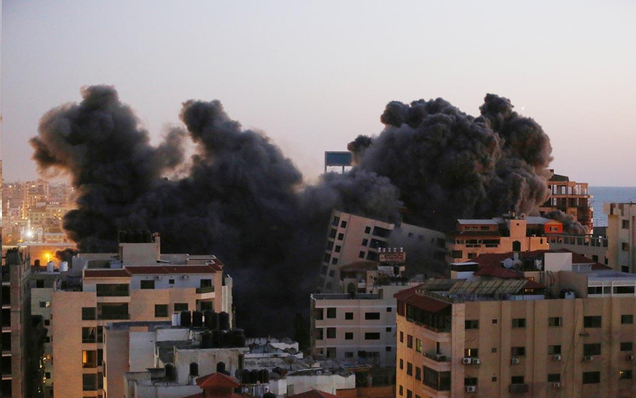 İsrail'den Gazze'ye hava saldırısı! 13 katlı bina vuruldu