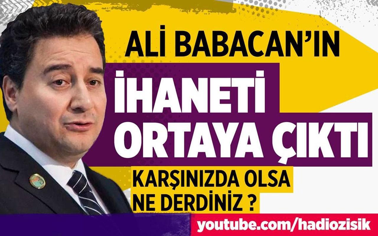 Ali Babacan tek tek itiraf etti. Bakın nasıl ihanet etmiş!
