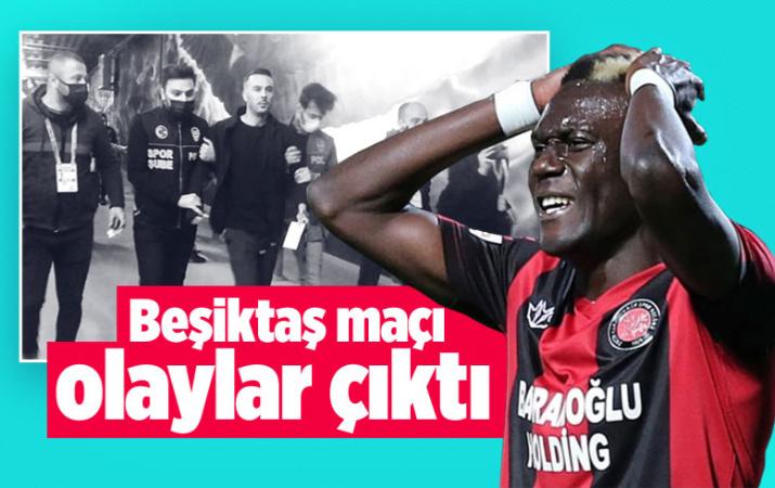 Beşiktaş maçı sonrası koridorda olaylar çıktı