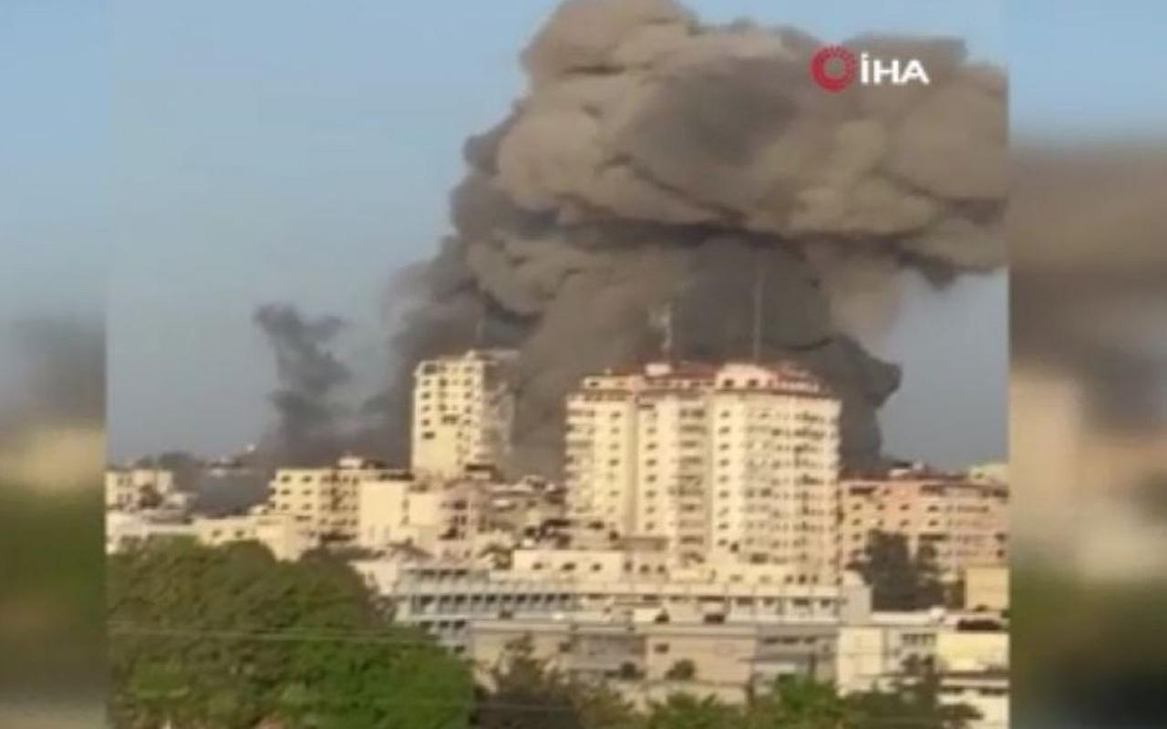İsrail, Gazze'de çok katlı bir binayı daha vurdu!