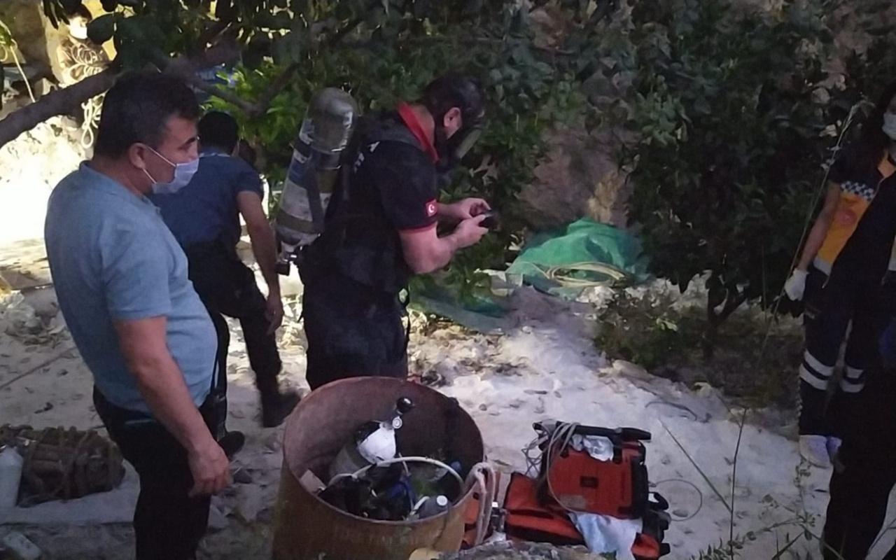 Adana'da girdikleri kuyuda gazdan zehirlenen 3 kişi hayatını kaybetti