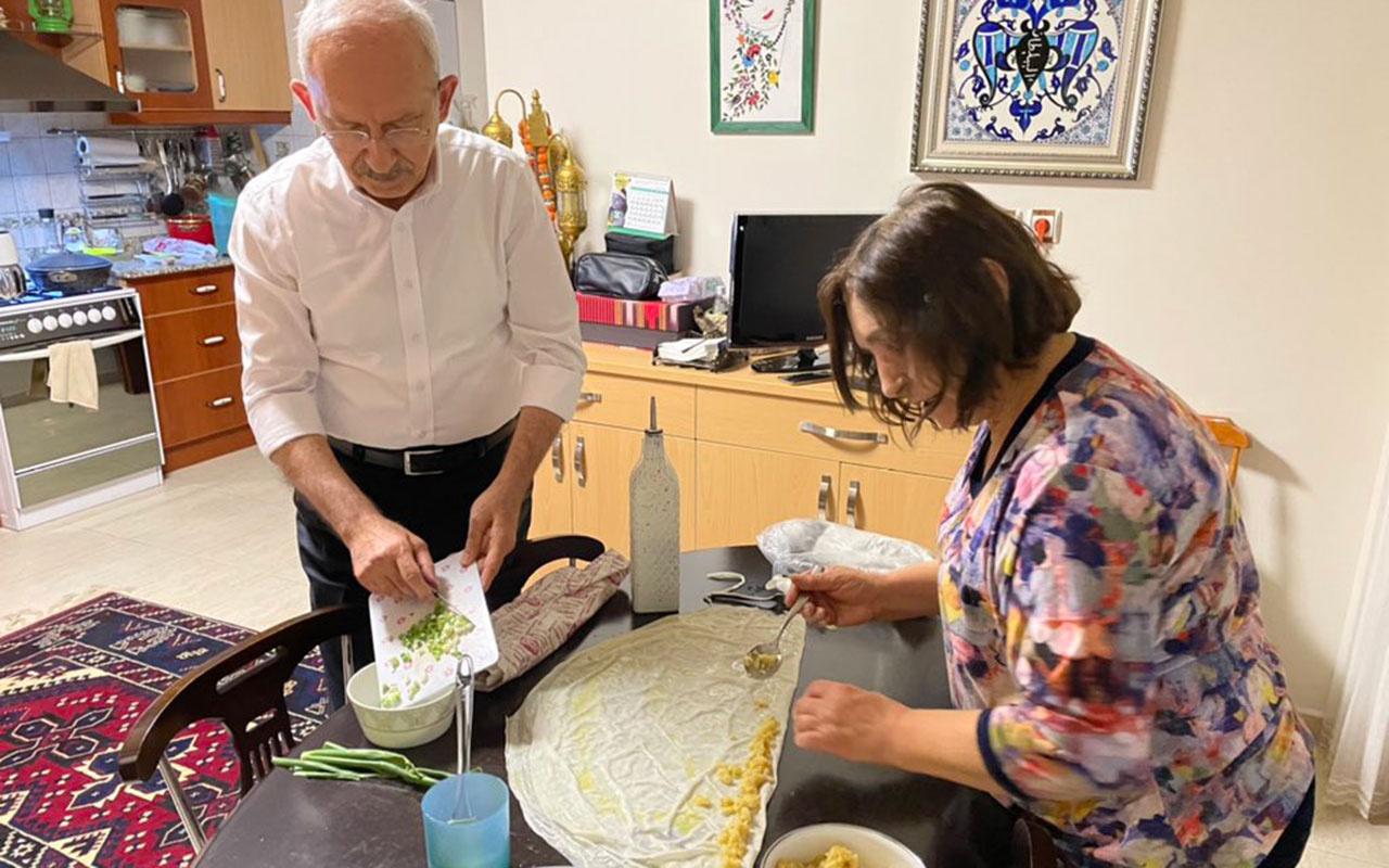 CHP lideri Kemal Kılıçdaroğlu mutfakta! Arife gününden bayram hazırlığını yaptı