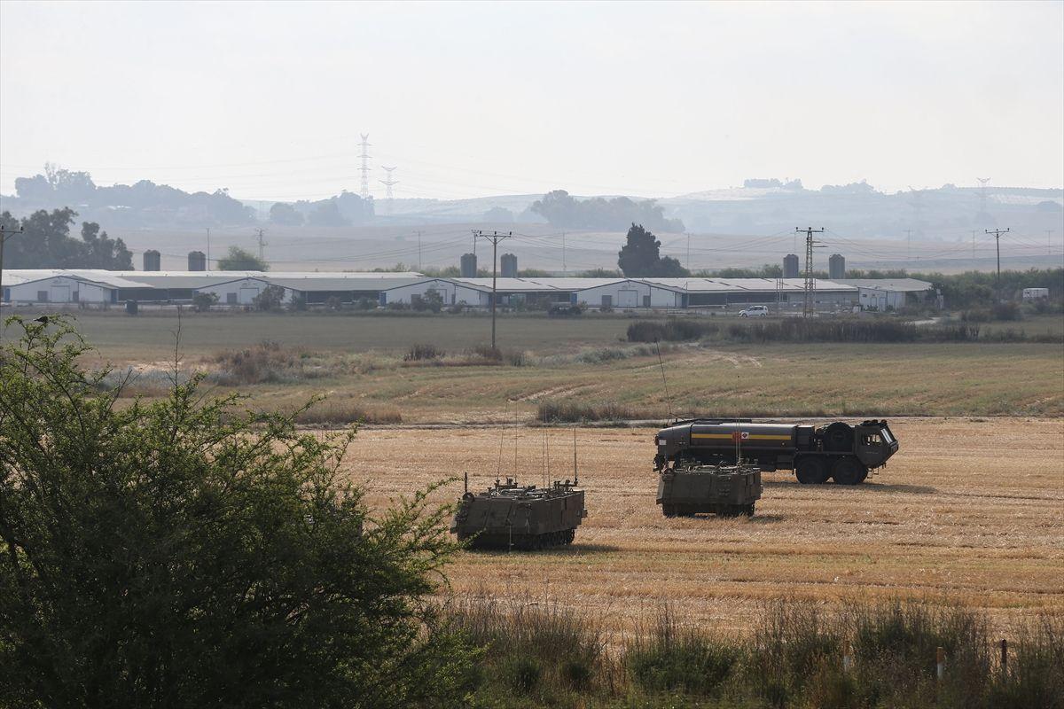 İsrail ordusundan Gazze sınırına askeri yığınak