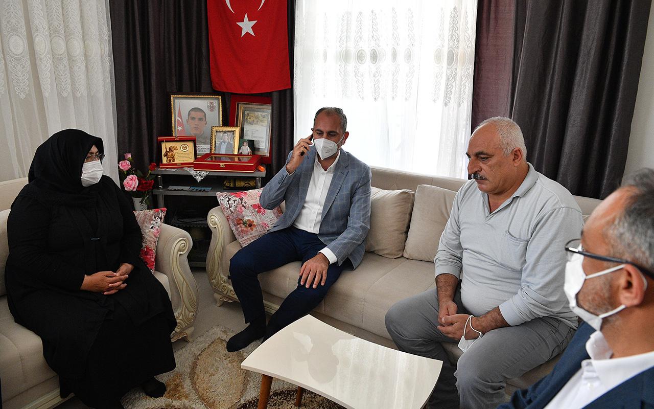 Cumhurbaşkanı Erdoğan şehit ailesi ile telefon görüşmesi yaptı