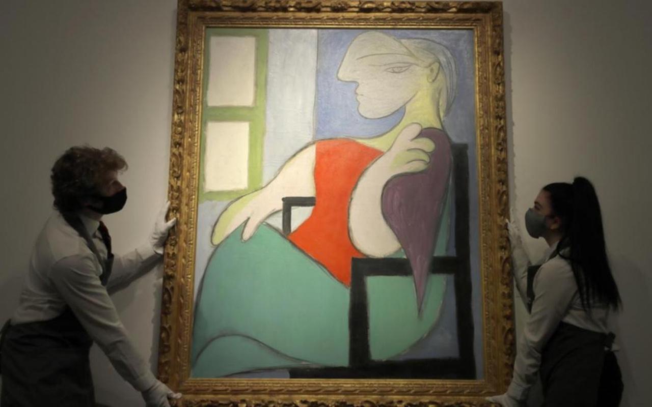 Pablo Picasso'nun tablosu açık arttırmayla dudak uçuklatan fiyata satıldı