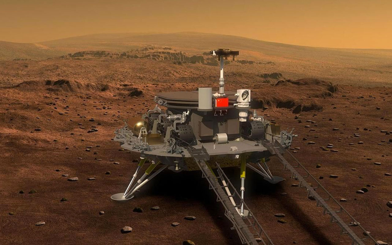 Çin uzay aracı Mars'a iniş yaptı