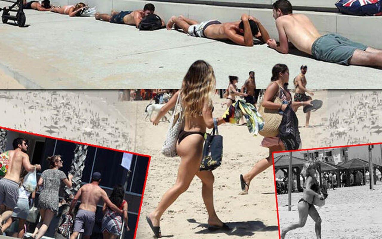 Hamas'ın saldırısı İsraillileri korkuttu! Plajdaki yüzlerce kişi sığınaklara kaçtı