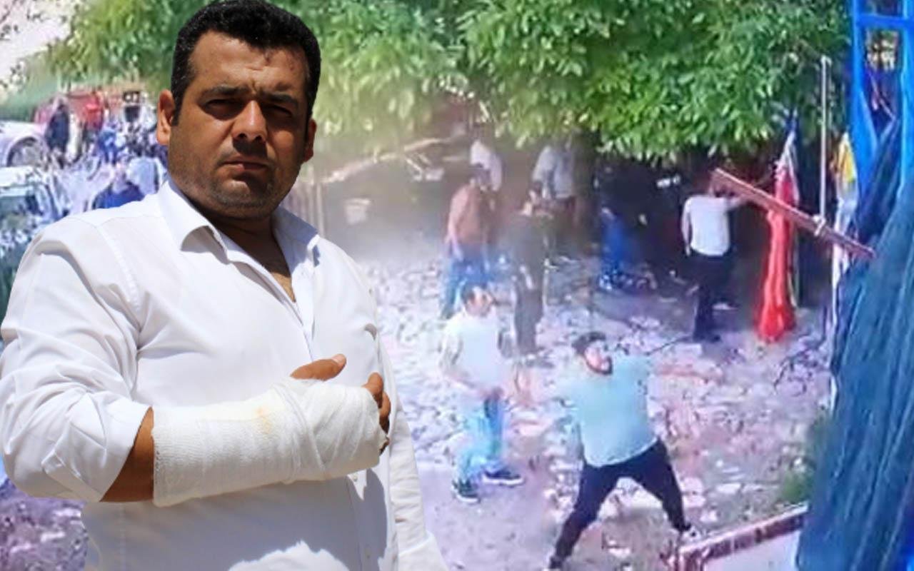 Burdur'da 'evin önünde neden durdunuz' diye sordu ortalık savaş alanına döndü
