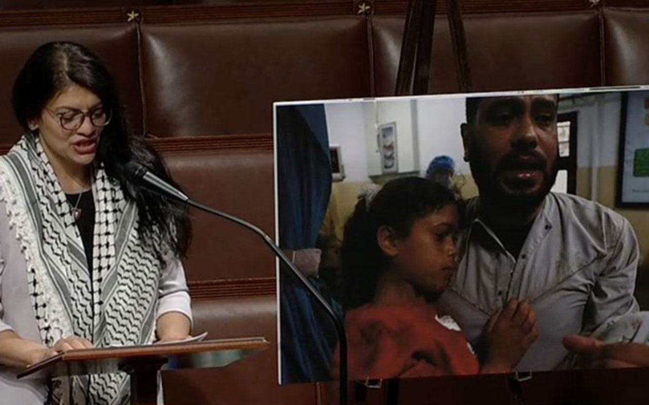 ABD'li vekil Temsilciler Meclisi'nde Gazze'de olanları anlatırken gözyaşlarını tutamadı