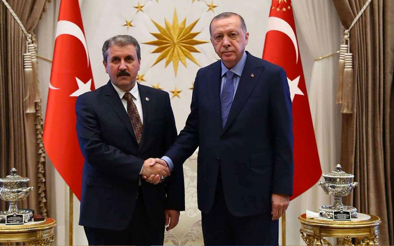 Cumhurbaşkanı Erdoğan ve Destici arasında önemli görüşme