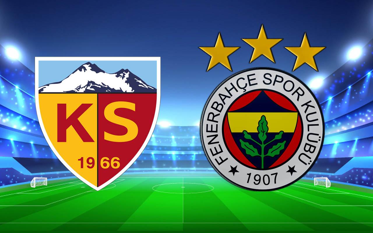 Hes Kablo Kayserispor-Fenerbahçe Süper Lig şampiyonluk maçı (11'ler)
