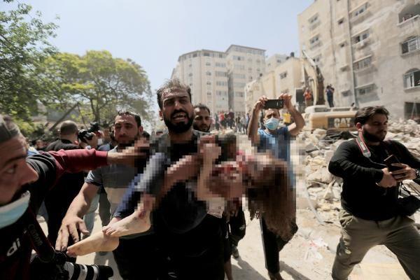 Gazze'ye en ağır saldırı! Bir günde 33 kişi hayatını kaybetti işte yürek yakan manzaralar