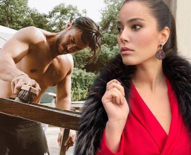Pelin Akil eşi Anıl Altan'ın yarı çıplak pozunu görünce fırçayı bastı