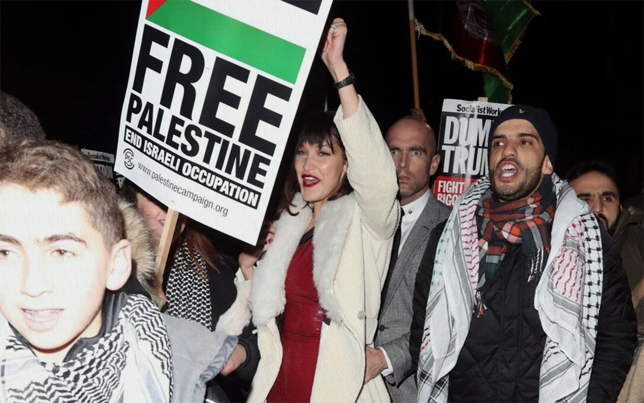 Filistin asıllı Amerikalı model Bella Hadid'den Filistin'e destek
