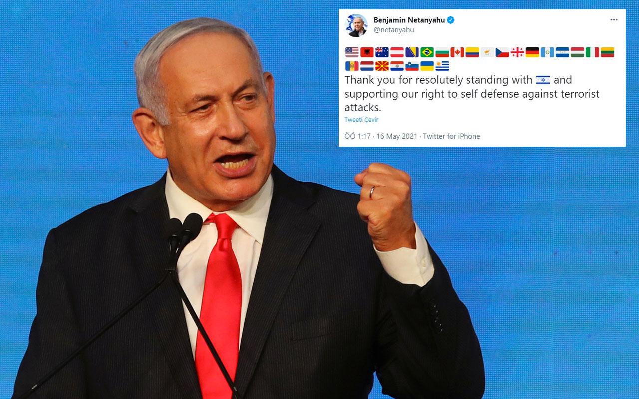 İsrail Başbakanı Netanyahu katliama destek veren ülkeleri paylaştı! Bosna'dan tepki