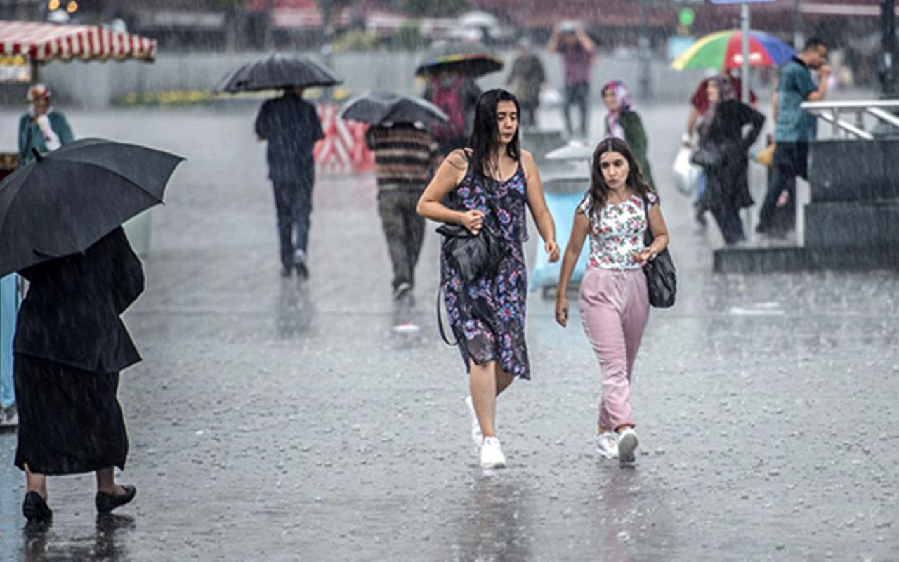 Sağanak yağış geliyor listede İstanbul da var! İşte bugün yağış beklenen iller ve hava durumu