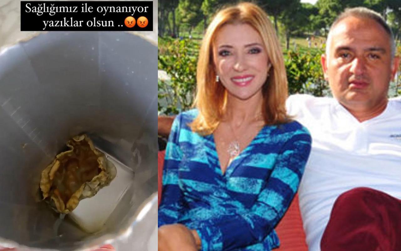 İçinden iğrenç bir şey çıktı! Turizm Bakan Ersoy'un eşi Pervin Ersoy kutu meyve suyunu ifşa etti