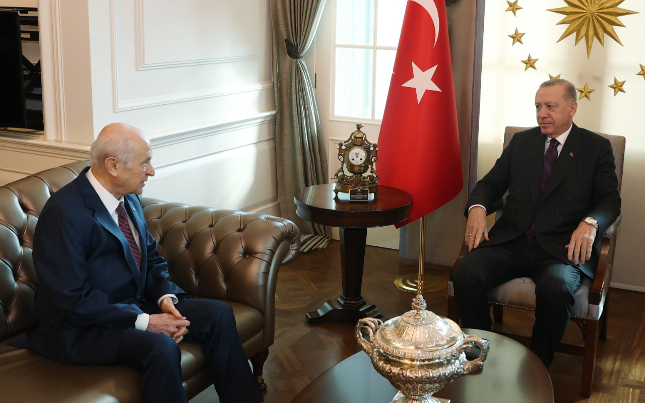 Cumhurbaşkanı Erdoğan ve Bahçeli'den sürpriz görüşme