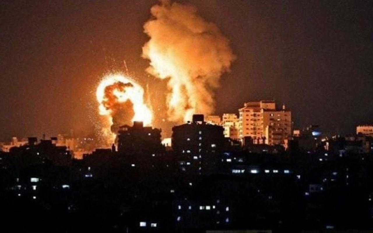 İsrail uçakları yine sivilleri bombaladı