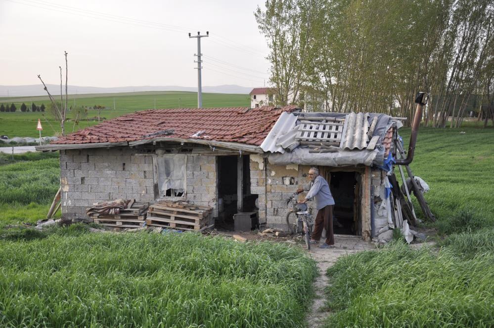 13 yıllık eşi yüzünden insanlara küstü! Eskişehir'de barakada tek başına yaşıyor