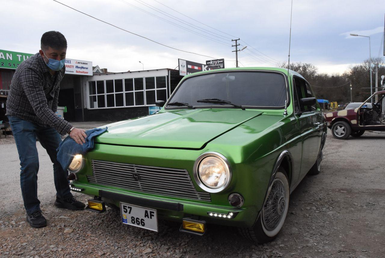 Sinoplu kaportacı klasik aracını MHP Genel Başkanı Bahçeli'ye hediye etmek istiyor