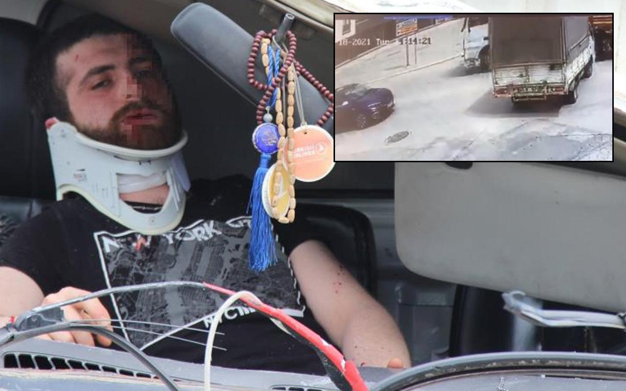 Kocaeli'de feci kaza! Kontrolden çıkıp 2 araca çarptı: Otomobilde sıkıştı