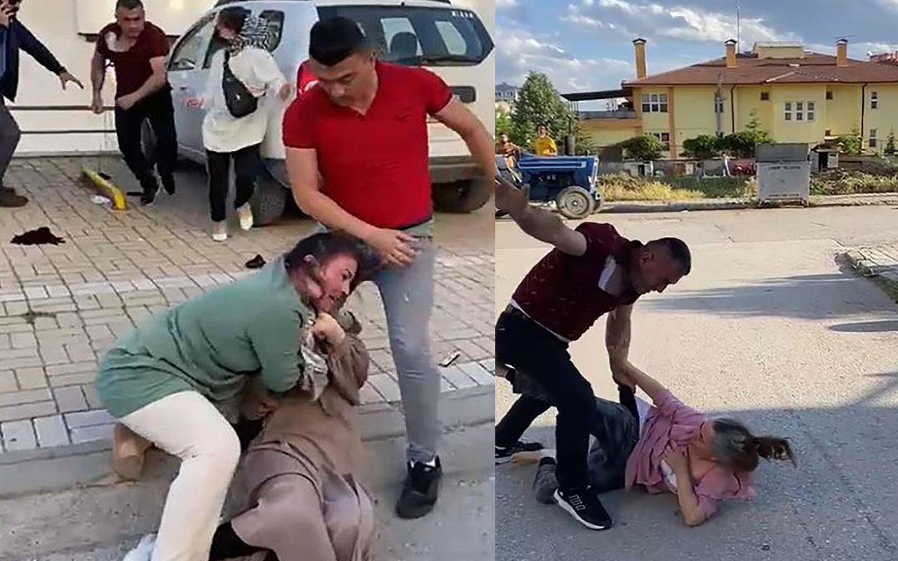 Çankırı'da boşanan çiftin yakınları arasında mal bölüşme kavgası çıktı! Yerlerde sürüklediler