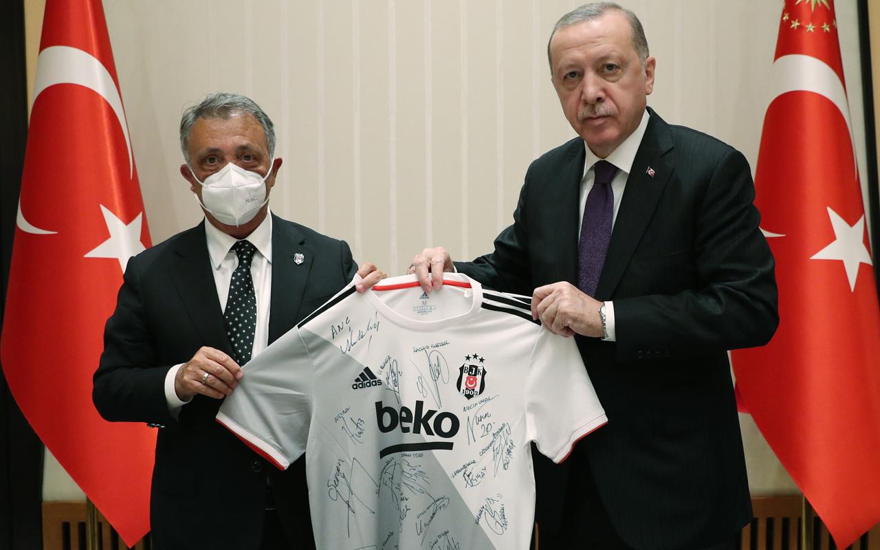 Cumhurbaşkanı Recep Tayyip Erdoğan, Beşiktaş'ı kabul etti