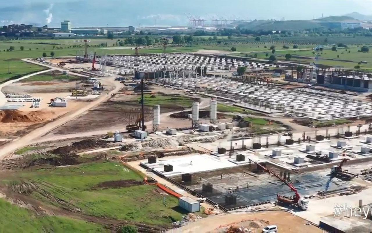 Türkiye'nin otomobili TOGG gün sayıyor havadan görüntülenen tesiste son durum açıklandı