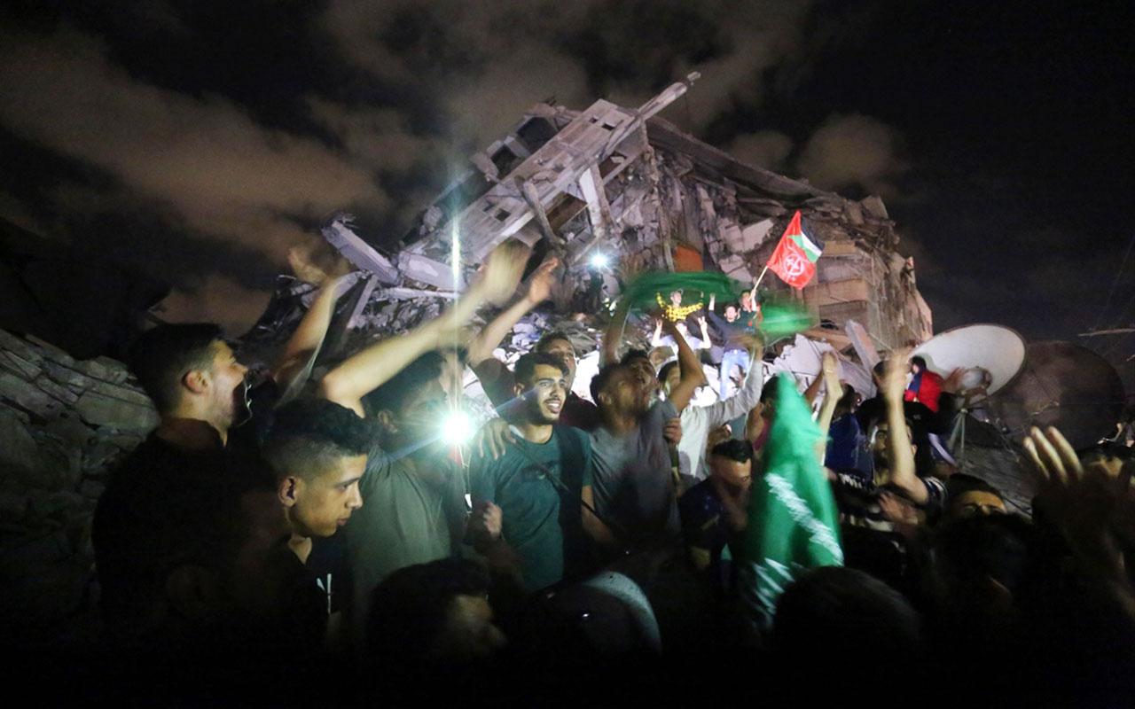 """Gazze ve Batı Şeria'daki Filistinli gençlerden """"ateşkes"""" sevinci"""