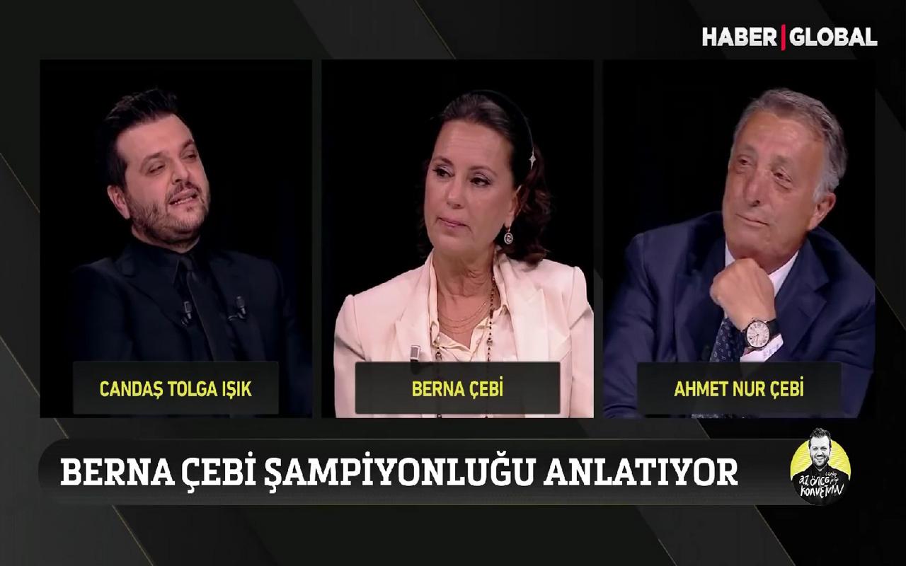 Canlı yayında Beşiktaş Başkanı Ahmet Nur Çebi aşkını ilan etti