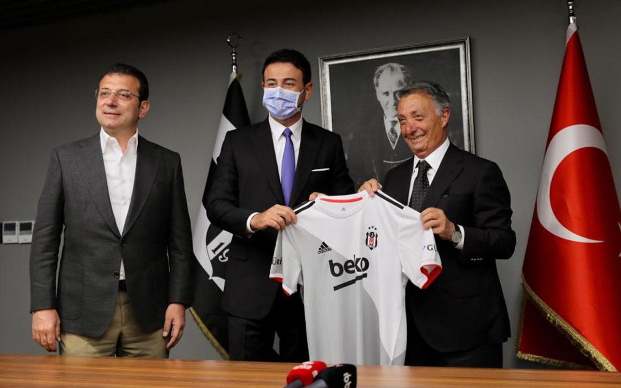Ekrem  İmamoğlu ve Akpolat'tan Beşiktaş Kulübü'ne ziyaret