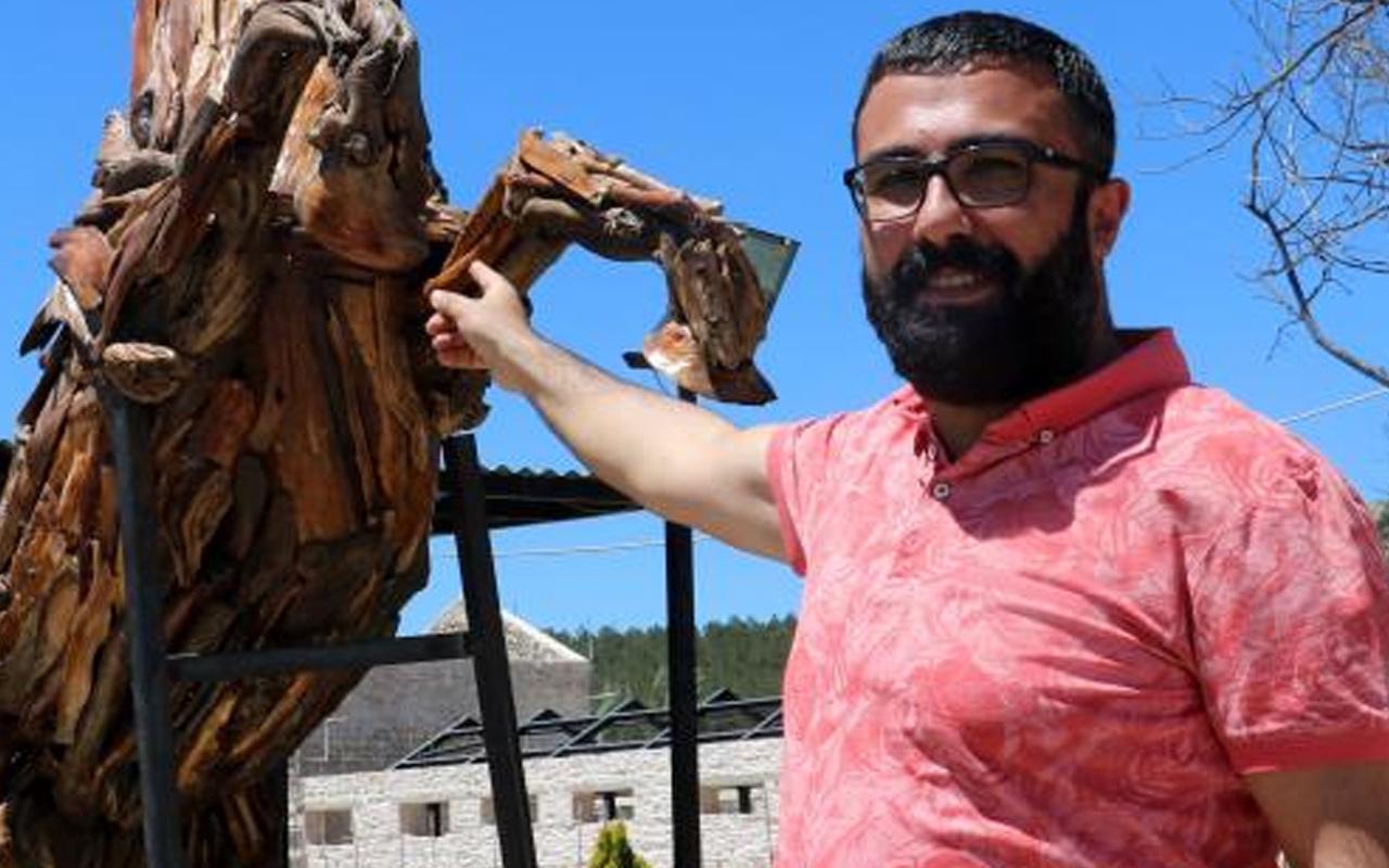 Sivas'ta atıklardan 1,5 ayda yaptı 20 yıl ömrü var! Görenler şaştı kaldı