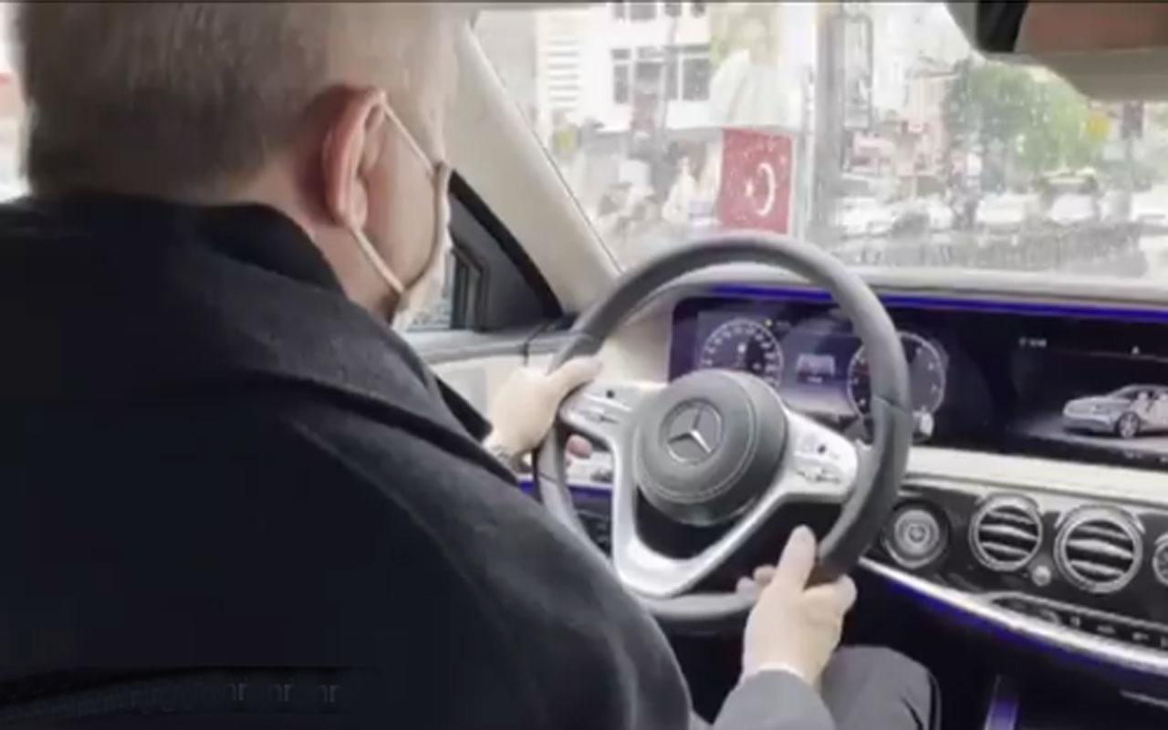 Fahrettin Altun Cumhurbaşkanı Erdoğan'ın otomobil kullandığı görüntüleri paylaştı