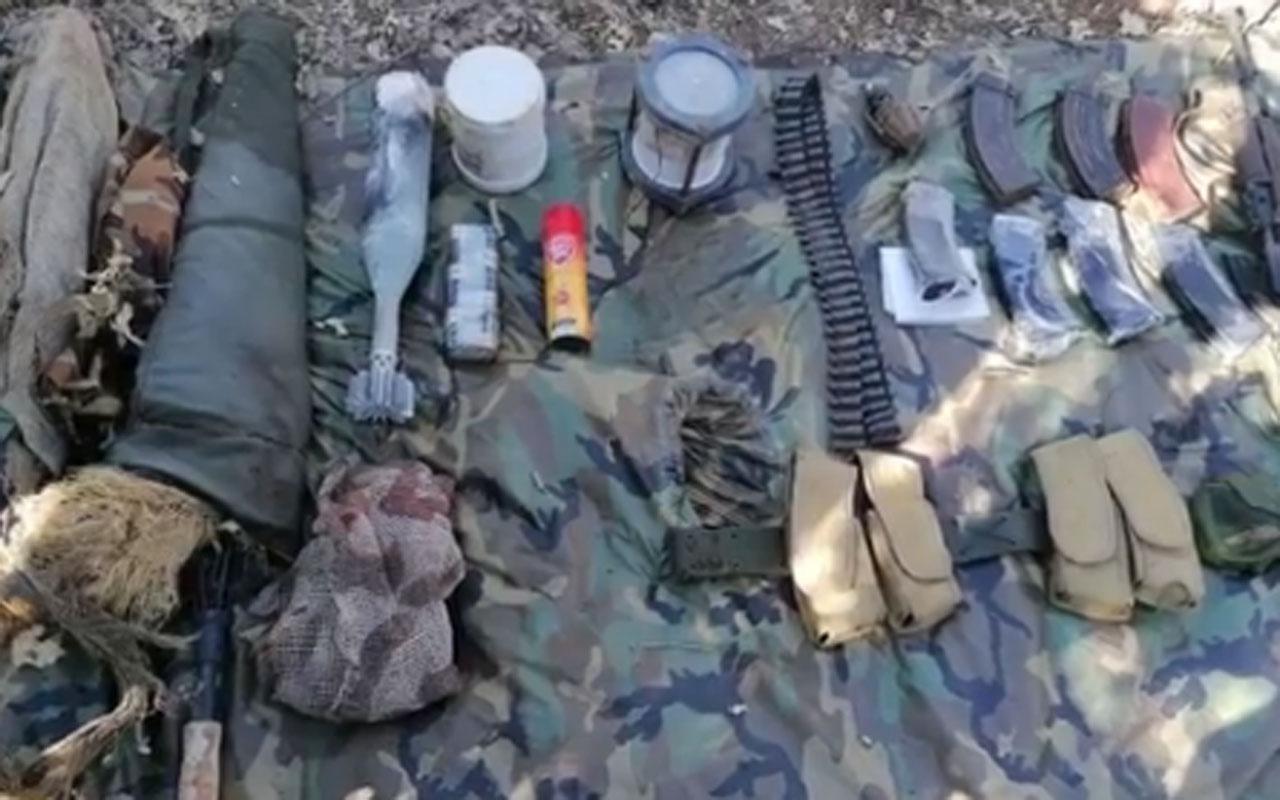 Pençe-Yıldırım operasyonu kapsamında PKK'ya ait çok sayıda silah ve mühimmat ele geçirildi