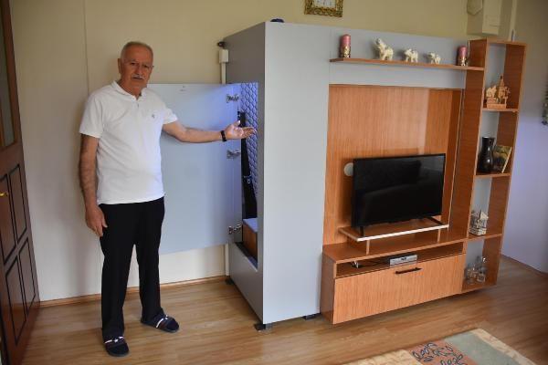 İzmir'de deprem korkusuyla evinin salonuna bunu yaptı! 66 ton basınca dayanaklı