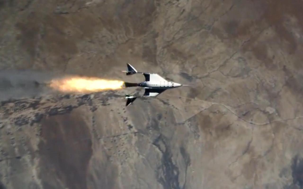 Uzay turizmi şirketi Virgin Galactic ikinci uçuş testini başarıyla tamamladı