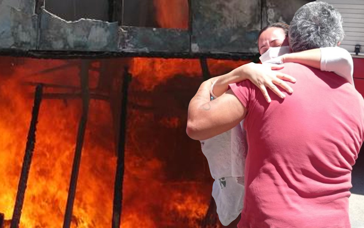 Antalya'da çığlık atınca yangını fark etti! Görünce gözyaşlarına boğuldu