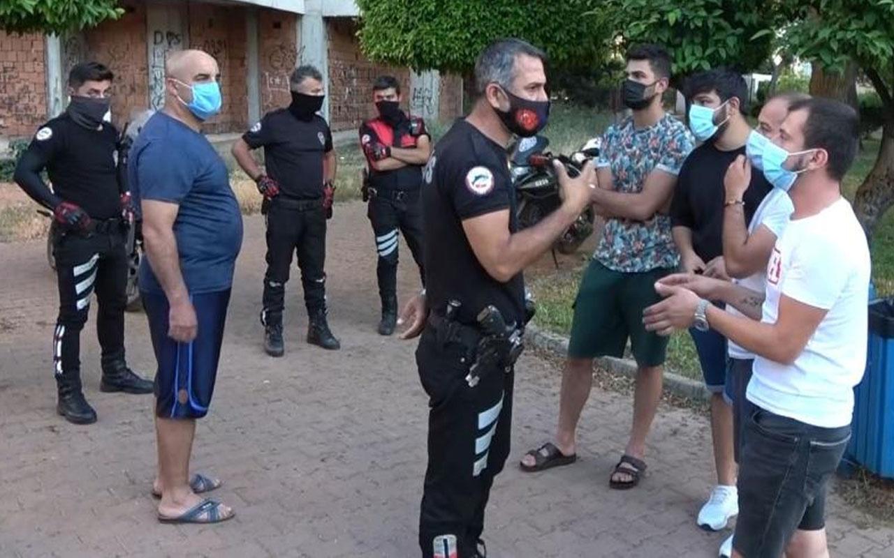 Yüzsüzlüğü pes dedirtti! Antalya'da yasağı ihlal edip polisi azarladı