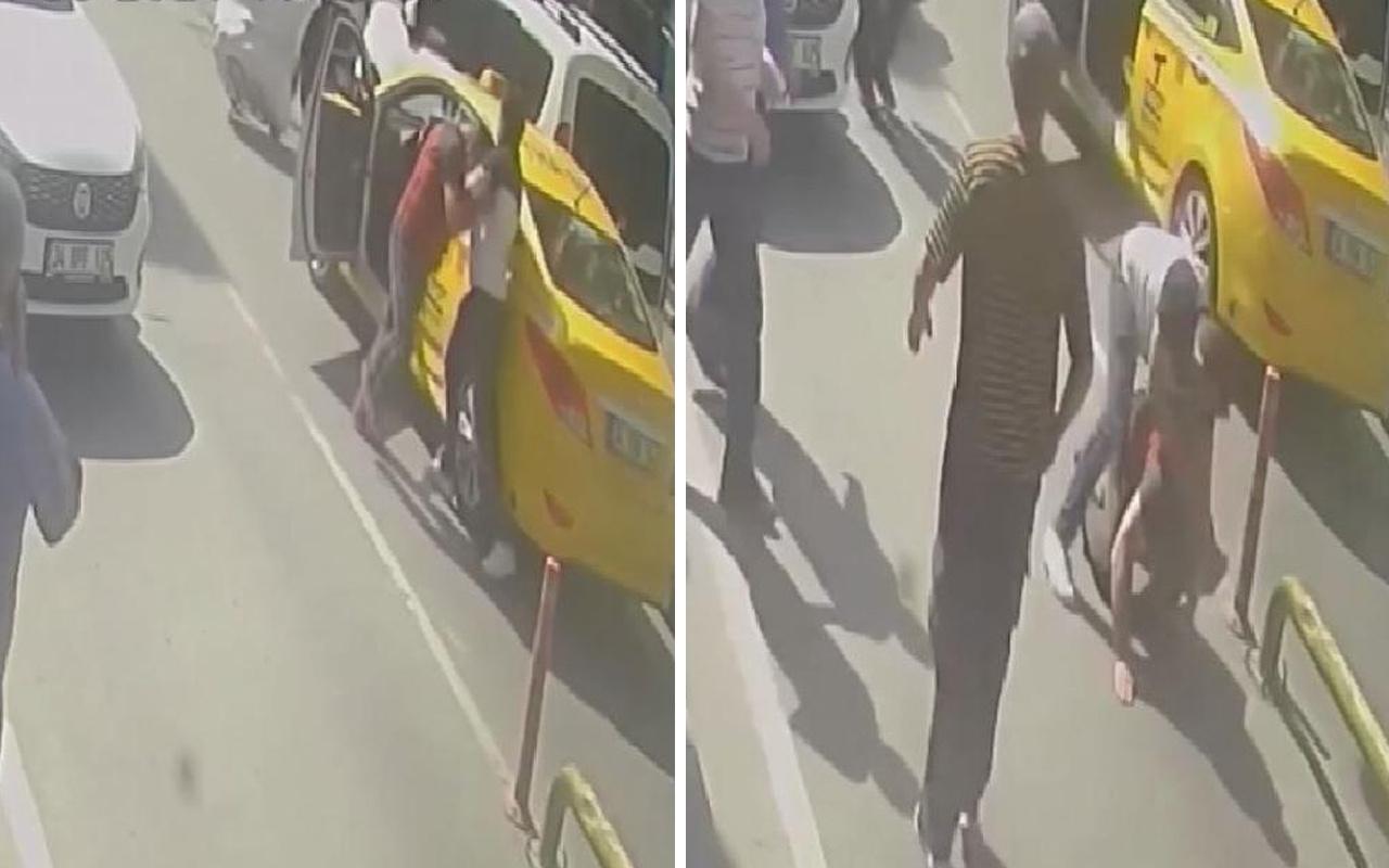 Fatih'te taksici ile müşteri arasındaki kısa mesafe kavgasında yumruklar konuştu