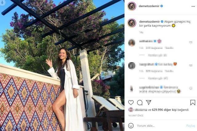Demet Özdemir mayosuyla fırtınalar estirdi tatil pozları Instagram'dan geldi