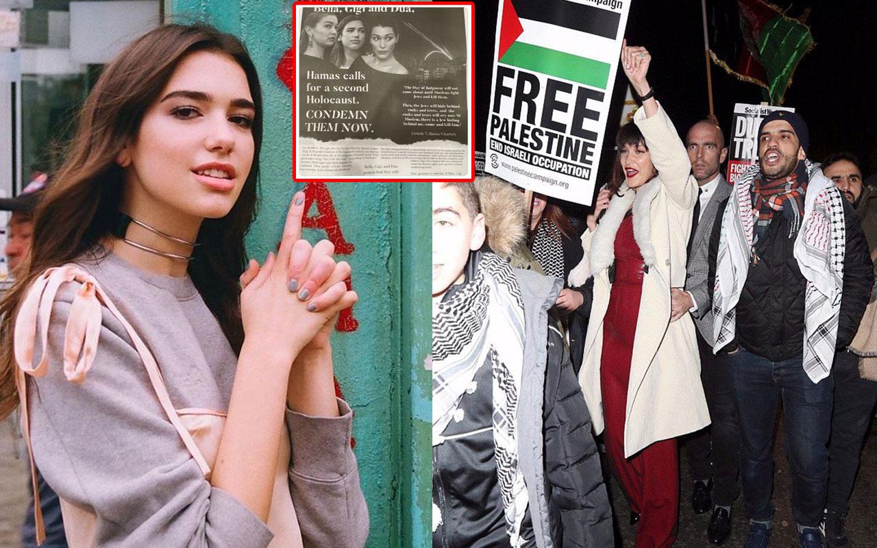 Filistin'e destek veren Bella Hadid Gigi Hadid'in hedef gösterilmesine Dua Lipa'dan sert sözler