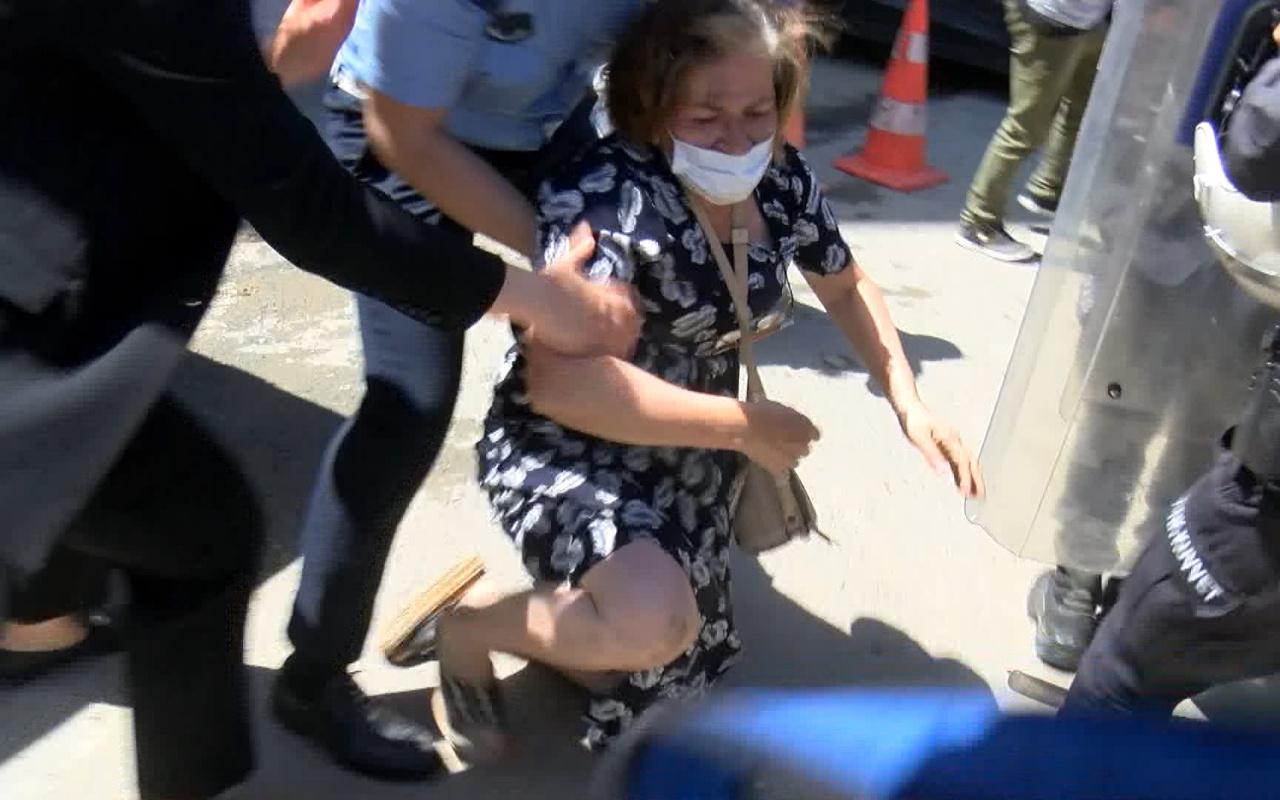 Ekrem İmamoğlu'na protestoda arbede