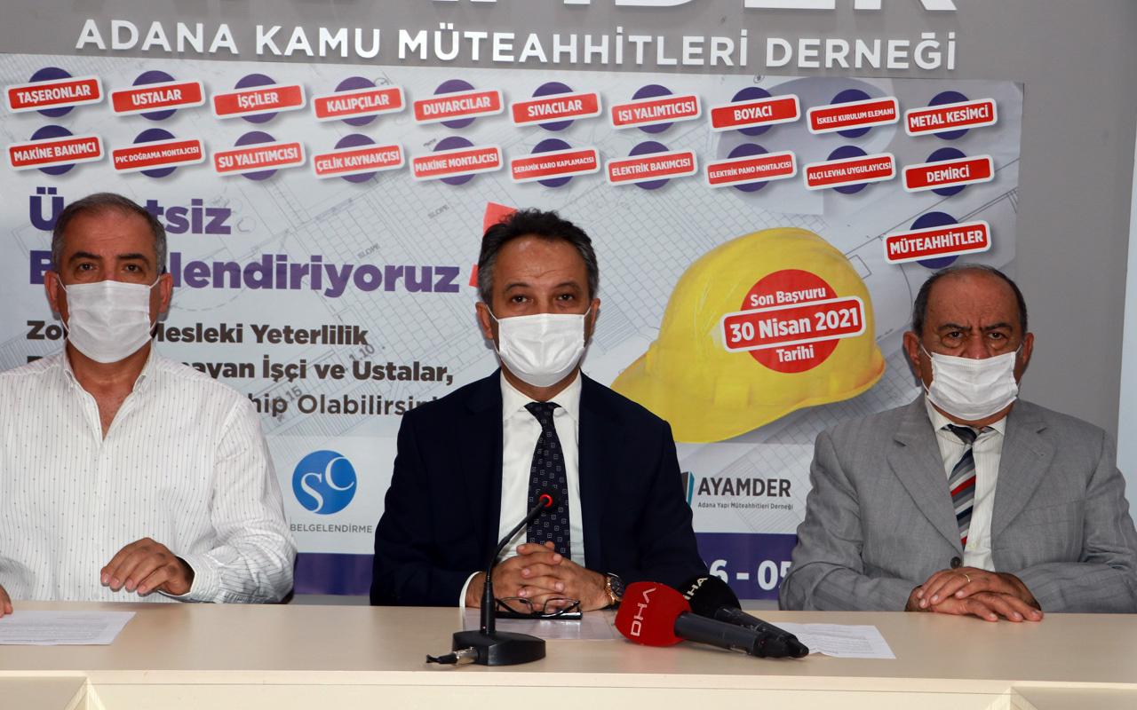 Adana'da müteahhitlerden demir ve beton üreticilerine tepki