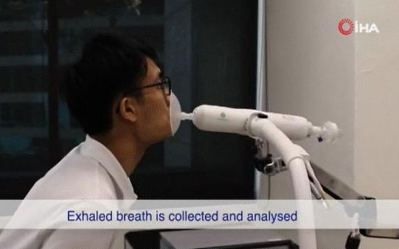 Koronavirüsü 1 dakikada tespit ediyor! Singapur'da 'üflemeli' teste kullanım onayı